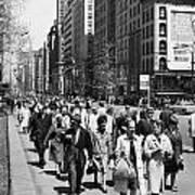 Pedestrians In New York Poster
