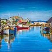 Peggy's Cove Boats Nova Scotia Poster