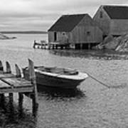 Peggys Cove In Black And White Poster