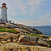 Peggy's Cove Lighthouse On The Rocks-ns Poster