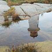 Peggy's Cove Reflection Poster by Gordon  Grimwade