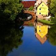 Pegnitz River In Nuremberg Poster