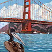 Pelican  And Bridge Poster