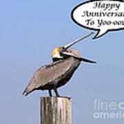 Pelican Anniversary Card Poster