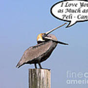 Pelican Love You Card Poster