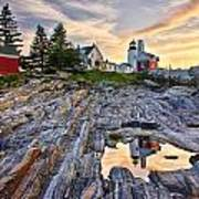 Pemaquid Lighthouse Reflection Poster