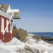 Pemaquid Point Bell House On The Maine Coast Poster