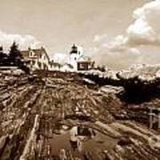 Pemaquid Point Sepia Poster