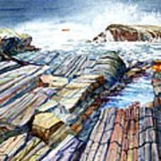 Pemaquid Rocks Poster
