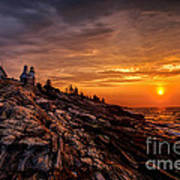 Pemaquid Sunrise  Poster by Jerry Fornarotto