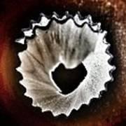 Pencil Shaving Heart Poster