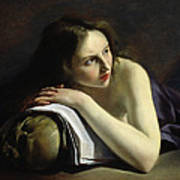 Penitent Magdalen Oil On Canvas Poster