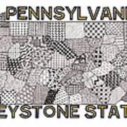 Pennsylvania Map White Poster