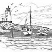 Peggy's Cove Lighthouse Nova Scotia Poster