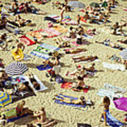 People In The Beach Poster