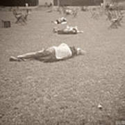 People Sleeping In The Park Poster by Beverly Brown