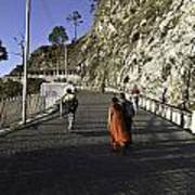 People Walking On The Path Leading To Shrine Of Vaishno Devi Poster