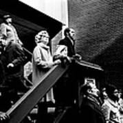 People Watching A Fire - Nyc - 1980 Poster