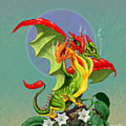 Peppers Dragon Poster