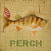 Perch On Burlap Poster