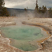 Perforated Pool In West Thumb Geyser Basin Poster