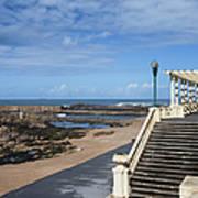 Pergola Da Foz At Praia Do Molhe Beach In Porto Poster
