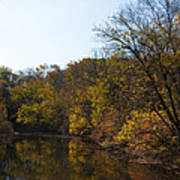 Perkiomen Creek In Autumn Poster