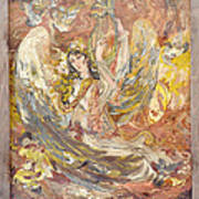 Persian Lady Playing Chang Poster