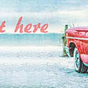 Free Personalized Custom Beach Art Poster