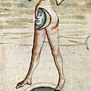 Personification Of Luna, 15th Century Poster