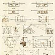 Perspective And Scenographic Diagrams. Poster