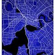 Perth Street Map - Perth Australia Road Map Art On Colored Backg Poster