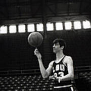 Pete Maravich Spinning Ball On Finger Poster by Retro Images Archive