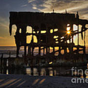 Peter Iredale Shipwreck Sunset Poster
