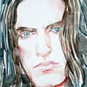 Peter Steele Watercolor Portrait Poster