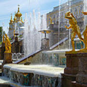 Peterhof Palace Fountains Poster