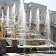 Peterhof Palace Fountains Poster