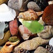 Petoskey Stones L Poster by Michelle Calkins