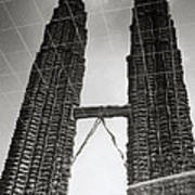 Petronas Towers Reflection Poster