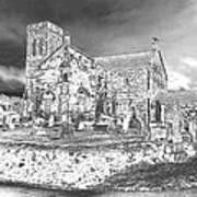 Pewter Skies Over The Kirk Poster