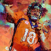 Peyton Manning Abstract 4 Poster