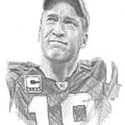 Peyton Manning Colts Farewell Pencil Portrait Poster