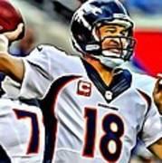Peyton Manning Throwing The Pass Poster