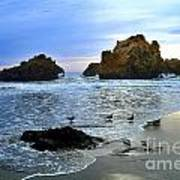 Pfeiffer Beach Big Sur Twilight Poster
