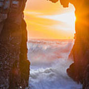 Pfeiffer Beach Keyhole Arch Poster