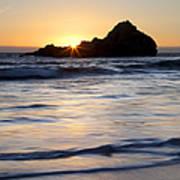 Pfeiffer Beach Sunset II Poster by Jenna Szerlag