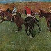 Pferderennen Vor Dem Start Poster