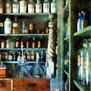 Pharmacy - Back Room Of Drug Store Poster