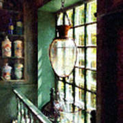Pharmacy - Glass Mortar And Pestle On Windowsill Poster