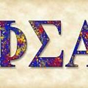 Phi Sigma Alpha - Parchment Poster